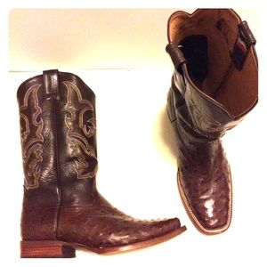 Exclusive Don Juan Cowboy Boots- Ostrich Chocolate